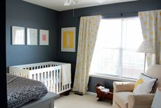 We wanted a nursery that was completely unexpected - no chair rails, pastels, or animal themes.  Something modern with feminine touches that will transition easily as our daughter grows . And no pink!