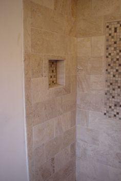 Niche in shower