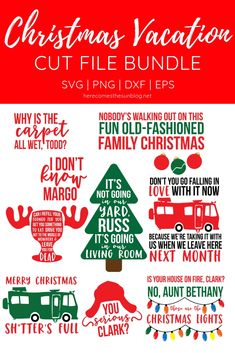 Use this Christmas Vacation Cut File bundle to create fun holiday projects! Use this Christmas Vacation Cut File bundle to create fun holiday projects! Comes with 9 movie quote cut files. Griswold Family Christmas, Merry Christmas, Christmas Holidays, Christmas Decorations, Christmas Vinyl, Christmas Door, A Christmas Story, Christmas 2019, Christmas Vacation Quotes