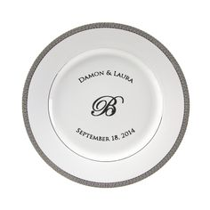 Luxor Personalized 10.75\u0027\u0027 Porcelain Dinner Plate $55  sc 1 st  Pinterest & Lotus Silver Line Personalized 11\u0027\u0027 Porcelain Dinner Plate $62 ...