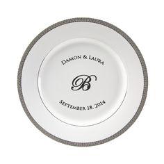 Luxor Personalized 10.75\u0027\u0027 Porcelain Dinner Plate $55  sc 1 st  Pinterest & Vanessa\