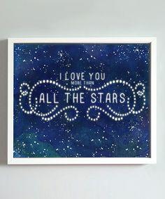 Midnight Blue All the Stars Print
