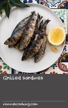 """Grilled sardines 