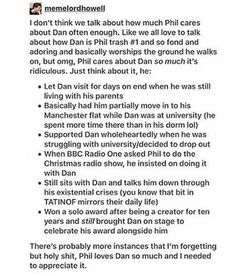aww I didn't know he asked for dan being with him for the radio show that's so sweet