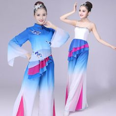 Female Yangko Dance Wear Chinese Traditional Costumes Square Dance Clothingg Drum Fan Dance Group Stage Performance Costume