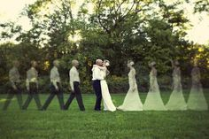 wedding picture ideas.. could even do this for engagement pictures!