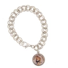 """1928 Silver-Tone """"Justice for Cecil"""" the Lion Charm Bracelet ($28) ❤ liked on Polyvore featuring jewelry, bracelets, charm jewelry, silvertone bracelet, animal charm bracelet, animal charms and charm bracelet jewelry"""
