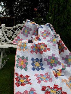 granny squares in 30s repros by ImAGingerMonkey, via Flickr
