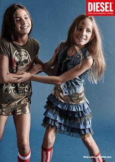 Diesel Kids. Julia Mayer.  Agency : Keolas Kids model. Photo by : Achim Lippoth