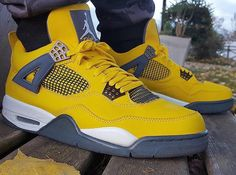 Air Jordan 4 Lightning, this is another Jordan 4 that goes along in the set with the Tour Yellow Air Jordan 4 featured in  the picture before