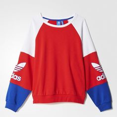 adidas LA Crew Sweatshirt - Tomato | adidas US
