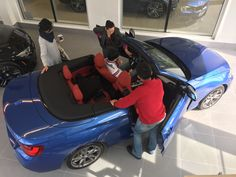 In our all-new delivery bay, customers receive their gorgeous Cabriolet.