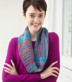 The Mountain Dawn Cowl is a perfect holiday gift for the fashionista in your life. | DIY Fashion | FREE crochet pattern | Crochet patterns on Joann.com