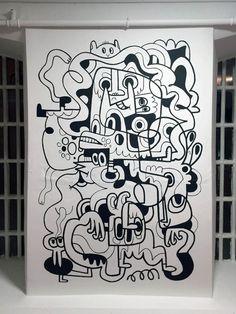 JH Office Murals | Jon Burgerman