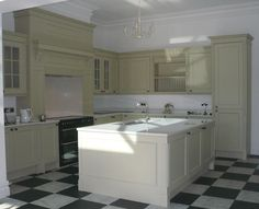 Bespoke Painted Kitchen in Farrow & Ball Bone. KB Store Trade.