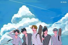 Hi; Hello Day6 Dowoon, Jae Day6, Park Sung Jin, Space Princess, Young K, Kpop Fanart, Illustration Sketches, Good Music, Bands