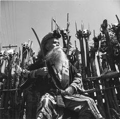 Chief Miyamoto, head of Ainu at Chiraoi, Hokkaido, August 1951 by Oliver Atkins