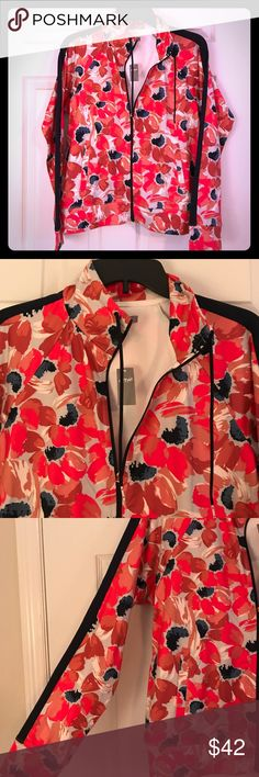 NWT aerie floral track jacket NWT aerie floral track jacket with pockets! aerie Jackets & Coats Utility Jackets