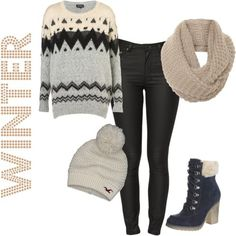 Winter fashion! :) This one is my favorite!!!!!