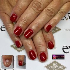 #seductivelights #red #biosculpturegel #nailrepair #anythingspossible with #biosculpture #nails #paphosnails #biosculpturebytheresa #kissonerga