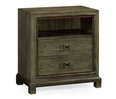 Small chest of drawers in light grey chestnut