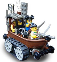 Amphibious Pirate Wheel-cum-Track Assault Craft Mk. XL (bow) by Ɍaillery, via Flickr