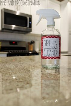 Green Homemade Granite Cleaner