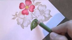 Colored Pencil Flowers ~ Watch as I show you how to blend with colored pencils on these flowers. Kinda similar to Copics, but a lot less expensive!