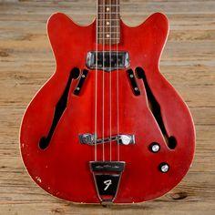 Fender Coronado I Bass Candy Apple Red 1968 (s297)