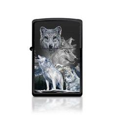 Zippo Lighter/ White Wolves