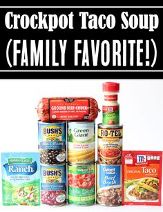 Crockpot Soup Recipes - Easy Healthy Beef Taco Soup! Give Taco Tuesday a break, and make dinner AMAZING tonight with this cozy, flavor-packed taco soup! It's such a fun, healthy option for a weeknight dinner... and will become a fast family favorite! Go grab the recipe and give it a try! Instant Pot Dinner Recipes, Easy Soup Recipes, Crockpot Recipes, Frugal Recipes, Simple Recipes, Drink Recipes, Cooker Recipes, Crock Pot Tacos, Slow Cooker Tacos