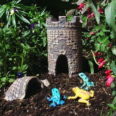 'Cause every frog needs a castle....Garden Castle for Fairy & Frog Friends