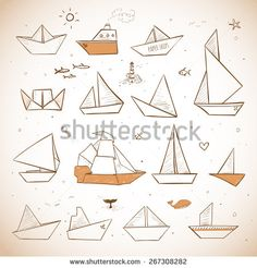 Find Vintage Origami Paper Ships Sketches Paper stock images in HD and millions of other royalty-free stock photos, illustrations and vectors in the Shutterstock collection. Doodle Sketch, Doodle Art, Ship Sketch, Tattoo Paper, Sketch Paper, Art Vintage, Origami Paper, Doodles Zentangles, Illustration