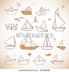 Boat Sea Doodles Ilustraciones en stock y Dibujos | Shutterstock
