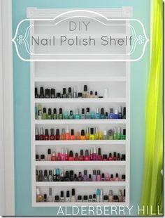 DIY Nail Polish Shelf Alderberry Hill 3: I definitely need to make this!