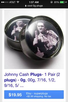 Found on google images- Johnny Cash plugs