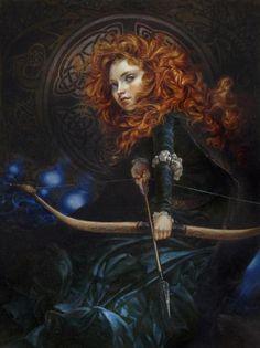 Pinturas a óleo das Princesas Disney de Heather Theurer