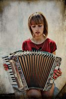 the accordion woman