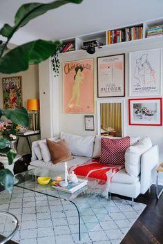 Inspiration Wall, Interior Inspiration, Studio Apartment Living, York Apartment, Apartment Essentials, Apartment Ideas, Modern Bohemian Decor, Amazing Spaces, Dream Home Design