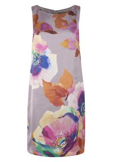 Great Plains Teesbrooke Watercolour Dress - Hessian