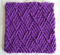 FREE Kitchen Dishcloth ~ Twist Stitch Diamonds. http://lawsofknitting.com/awesome-knitted-gifts/kitchen-dishcloth-twist-stitch-diamonds/