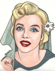 Marilyn Monroe by aaronmark | This image first pinned to Marilyn Monroe Art board, here: http://pinterest.com/fairbanksgrafix/marilyn-monroe-art/ || #Art #MarilynMonroe