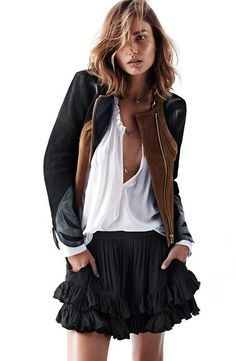 informal black and white- with sporty jacket