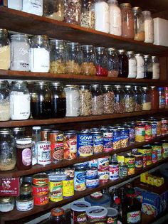 Mason jars for pantry storage... Plastic be gone!!