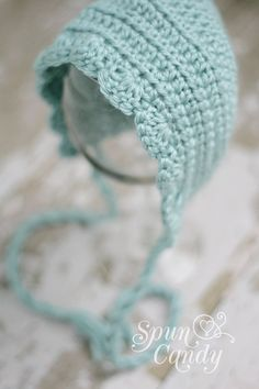 The Vintage Baby Bonnet by SpunCandy- Choose Your Color on Etsy, $24.00