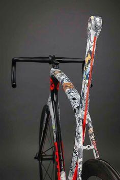 art # design # pop # comic # bicycle frame