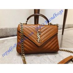a431f2d6fe75 Monogram College Medium Leather Shoulder Bag with a Wooden and Metal Handle Gucci  Handbags, Hobo