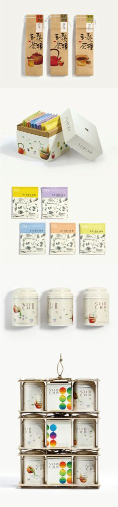 Delicate use of graphics over the various containers. #packagedesign #designinspiration