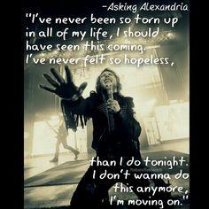 Asking Alexandria - Moving On Move On Lyrics, Lyrics To Live By, Music Lyrics, Band Quotes, Music Quotes, Real Quotes, Asking Alexandria Quotes, Im Moving On, Bring Me To Life
