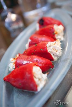 Enjoy Dishes Like These Stuffed Roasted Red Peppers At The International Tapas Station